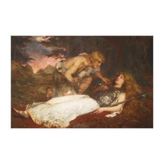 Siegfried y Brunilda del mayordomo de Charles Erne Impresiones En Lienzo Estiradas