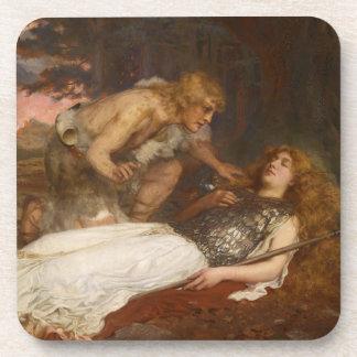 Siegfried y Brunilda del mayordomo de Charles Erne Posavasos De Bebida