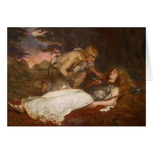 Siegfried y Brunilda del mayordomo de Charles Erne Tarjeton