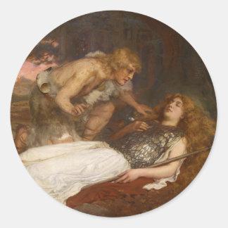 Siegfried y Brunilda del mayordomo de Charles Pegatina Redonda