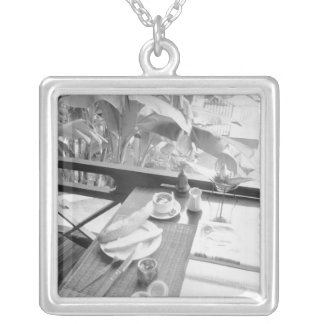 Siem Reap Cambodia, Continental Breakfast Silver Plated Necklace