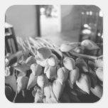 Siem Reap Camboya, flores de Lotus Pegatina Cuadrada