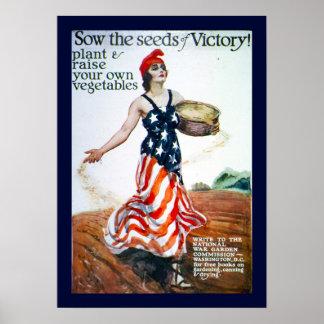 Siembre las semillas de la victoria posters