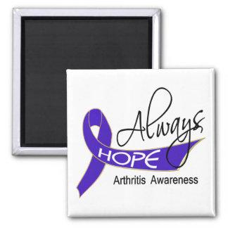 Siempre artritis de la esperanza imán cuadrado