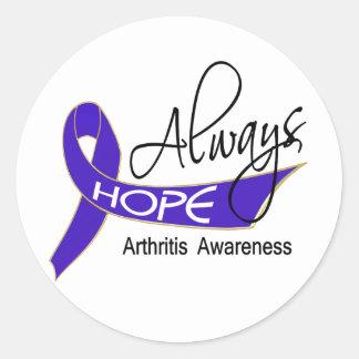 Siempre artritis de la esperanza pegatina
