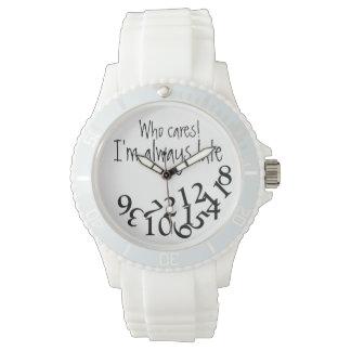 Siempre atrasado divertido reloj de mano