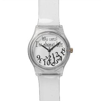 Siempre atrasado divertido reloj
