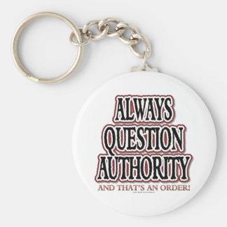 Siempre autoridad de la pregunta llaveros