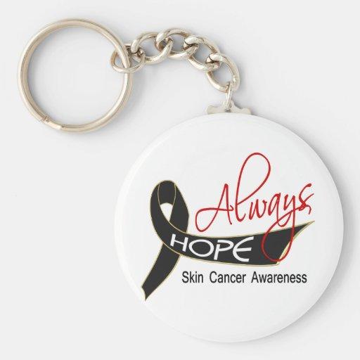 Siempre cáncer de piel de la esperanza llavero personalizado