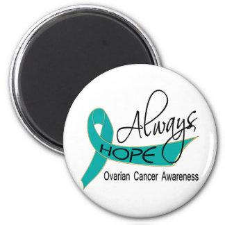 Siempre cáncer ovárico de la esperanza imán redondo 5 cm