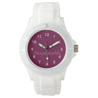 Siempre chispa relojes de pulsera
