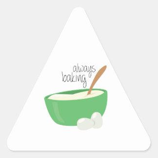 Siempre cociendo pegatina triangular