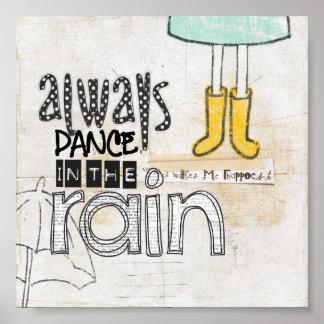 siempre danza en la lluvia poster