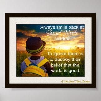 Siempre de la sonrisa poster especial de los niños