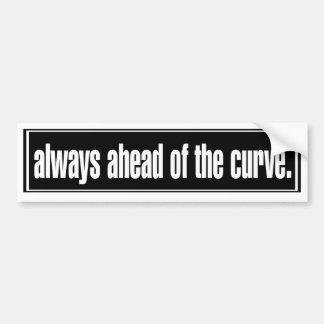Siempre delante de la curva pegatina de parachoque