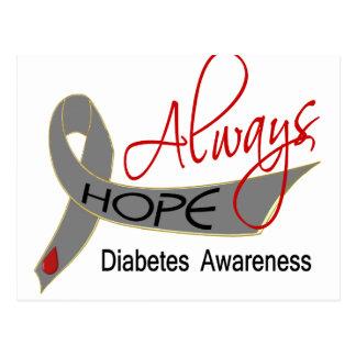 Siempre diabetes de la esperanza postal