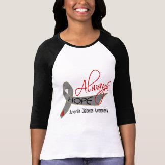 Siempre diabetes juvenil de la esperanza camisetas