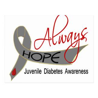 Siempre diabetes juvenil de la esperanza postales