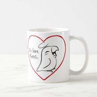 Siempre en mi corazón taza de café