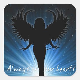 Siempre en nuestro pegatina de los corazones