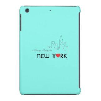 """""""Siempre feliz en (amor) Nueva York """" Funda De iPad Mini"""