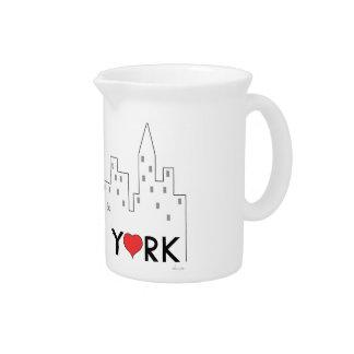 Siempre feliz en Nueva York Jarra Para Bebida