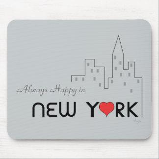 Siempre feliz en Nueva York Alfombrillas De Raton