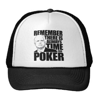 Siempre hora para el póker gorra