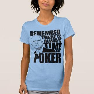Siempre hora para el póker camisetas