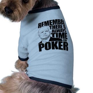 Siempre hora para el póker ropa de perro