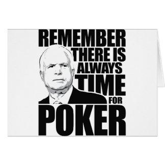 Siempre hora para el póker tarjeta