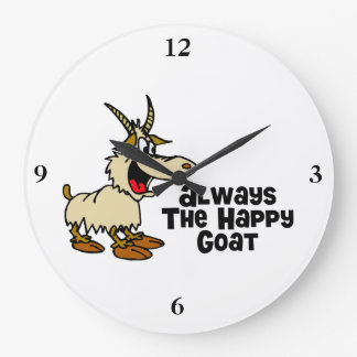 Siempre la cabra feliz reloj redondo grande