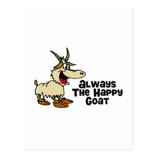 Siempre la cabra feliz tarjeta postal