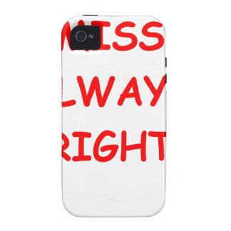 siempre la derecha Case-Mate iPhone 4 fundas