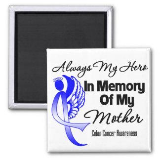 Siempre mi héroe en madre de la memoria - cáncer d imán cuadrado