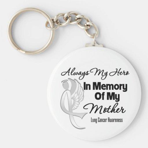 Siempre mi héroe en madre de la memoria - cáncer llavero redondo tipo pin