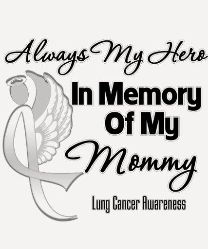 Siempre mi héroe en mamá de la memoria - cáncer de camisas
