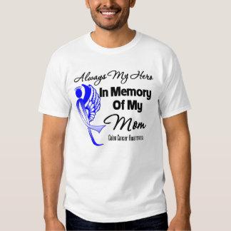 Siempre mi héroe en mamá de la memoria - cáncer de playeras