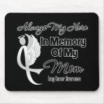 Siempre mi héroe en mamá de la memoria - cáncer de alfombrilla de raton
