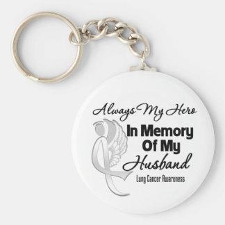 Siempre mi héroe en marido de la memoria - cáncer  llavero