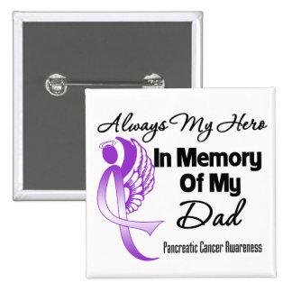 Siempre mi héroe en papá de la memoria - cáncer pa pins