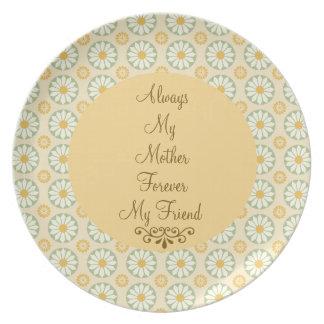 Siempre mi madre, para siempre mi placa de la marg platos de comidas