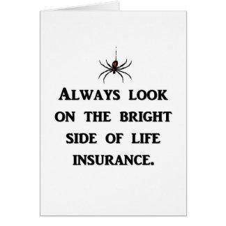 siempre-mirada-en--brillante-lado-de-vida-seguro tarjeta de felicitación
