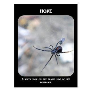siempre-mirada-en--brillante-lado-de-vida-seguro tarjeta postal