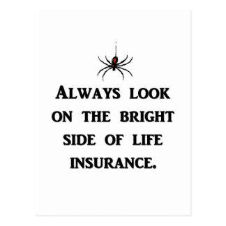 siempre-mirada-en--brillante-lado-de-vida-seguro tarjetas postales