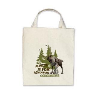 Siempre para arriba para la aventura bolsas lienzo