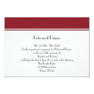 Siempre para siempre cena de rubíes del ensayo de invitación 8,9 x 12,7 cm