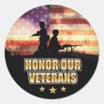 Siempre pegatina del día de veteranos