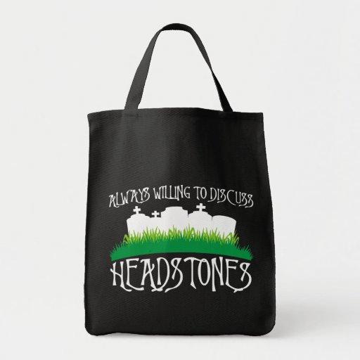 Siempre queriendo discutir las lápidas mortuorias bolsas