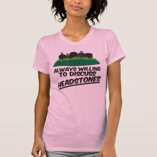 Siempre queriendo discutir las lápidas mortuorias camisas